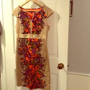 Nine West floral and tan dress